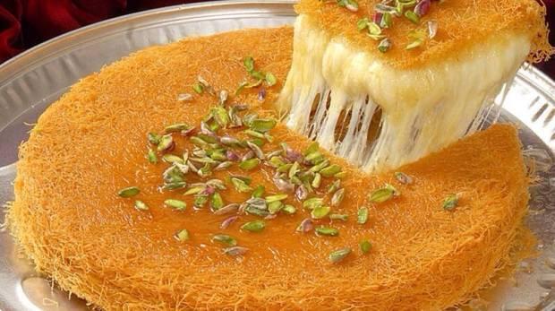 طريقة عمل الكنافة النابلسية الناعمة بالجبنة العكاوي