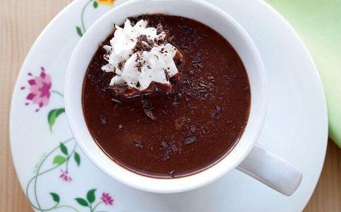 الشوكولاته الساخنه بالفستق