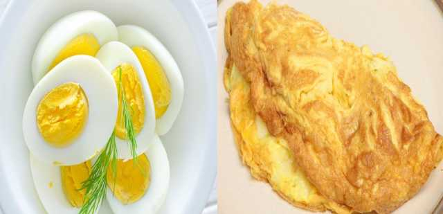 كم كالوري في البيض المقلي بدون زيت