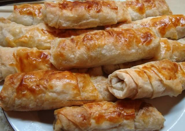 لفائف الباذنجان التركية مع الجبنة اللذيذة