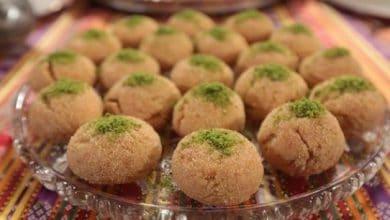 طريقة عمل كرات السميد التركية - حلوي السميد المقرمشة